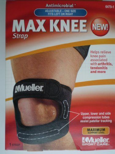 15c4d1c187 Mueller MAX Knee Strap by Mueller. $16.99. Lightweight and confortable  support with dual strap compression tubes to help relieve pain associated  with ...