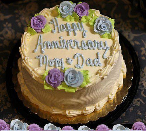 Wedding Anniversary Cake For Mom And Dad Wedding Cakes Wedding