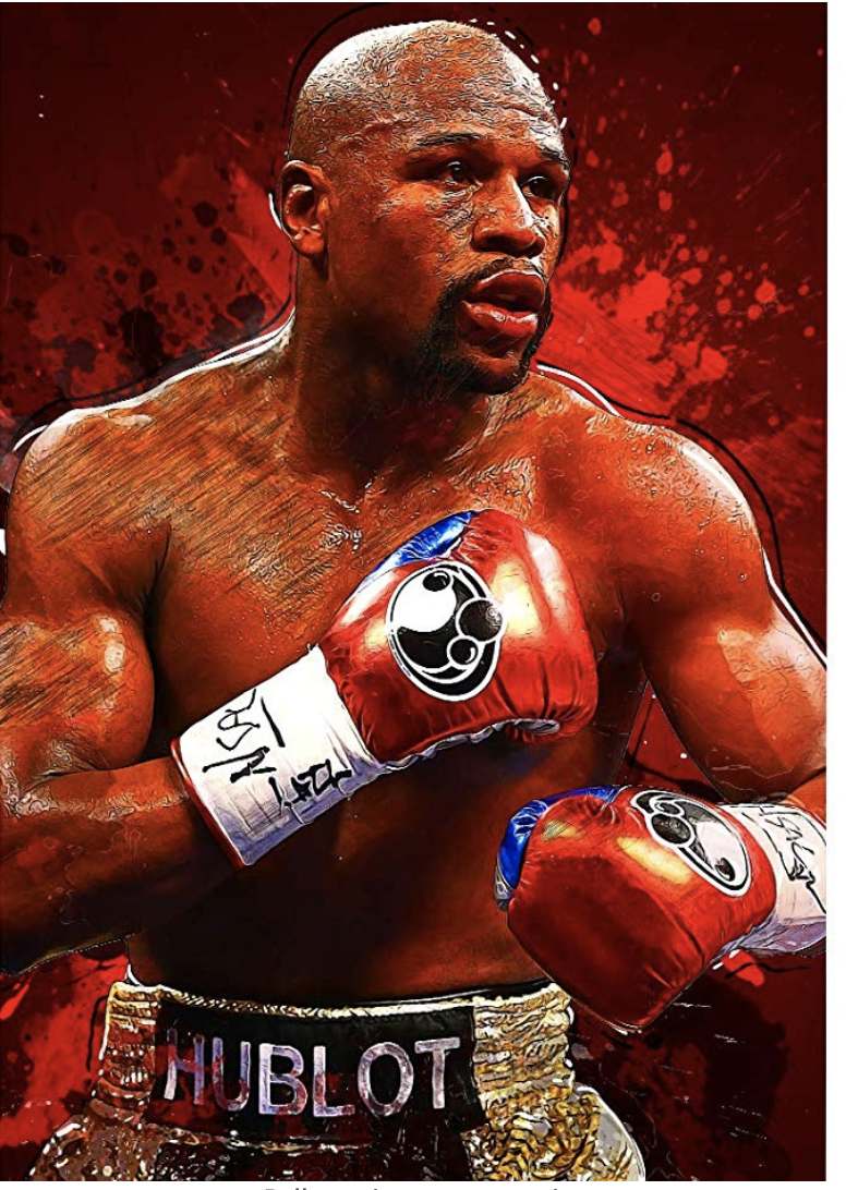 ClifeDesign Floyd Mayweather Jr Poster Boxing Poster Print Unframed (40