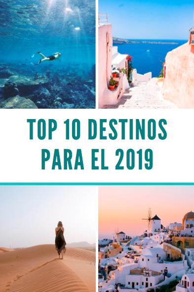 Mejores lugares para viajar en el 2019