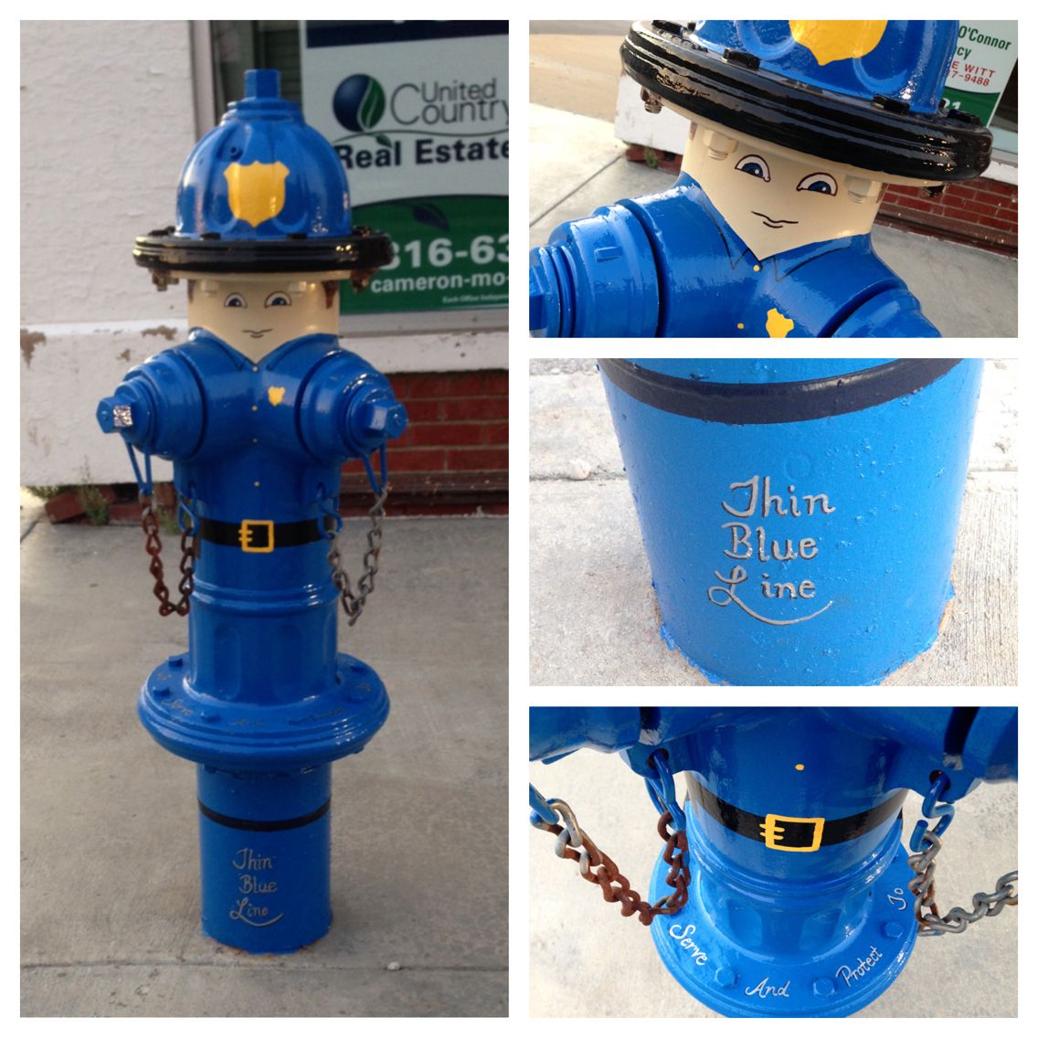 Thin Blue Line Policeman Fire Hydrant On Third And Walnut St Fire Hydrant Fire Hydrant Craft Hydrant