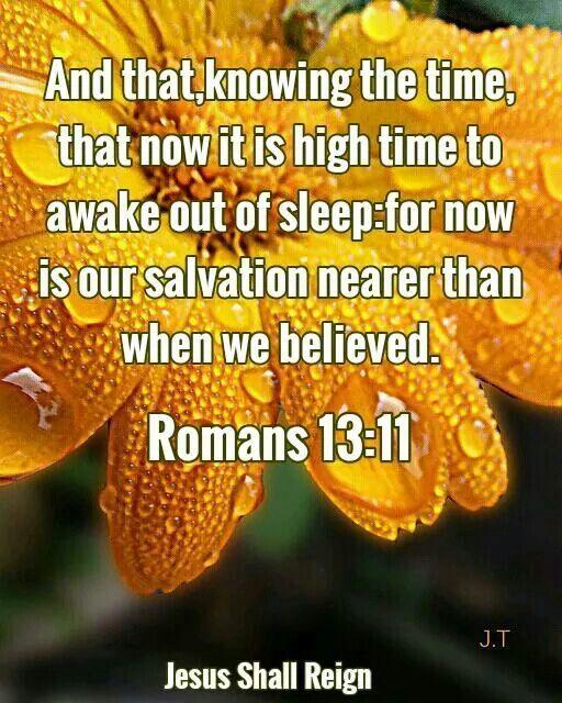Romans 13:11 KJV