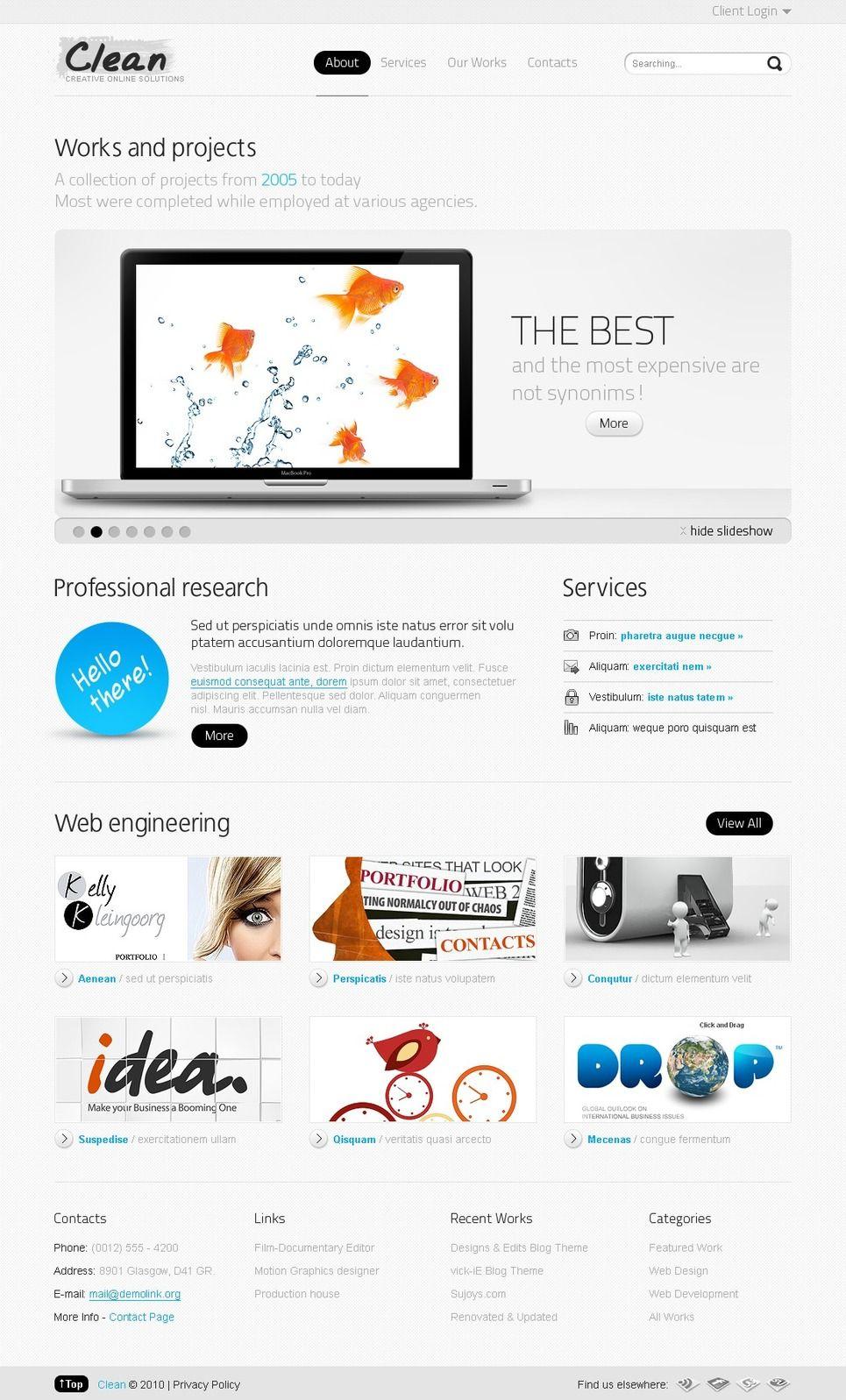 Web Design Psd Template 54269 With Images Psd Templates Web Design Templates
