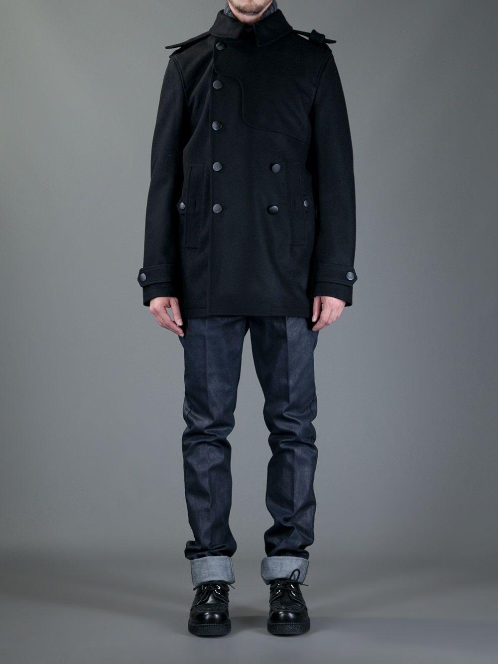 d25383c607b yves-saint-laurent-double-breasted-coat-black | Mens' Fashion ...