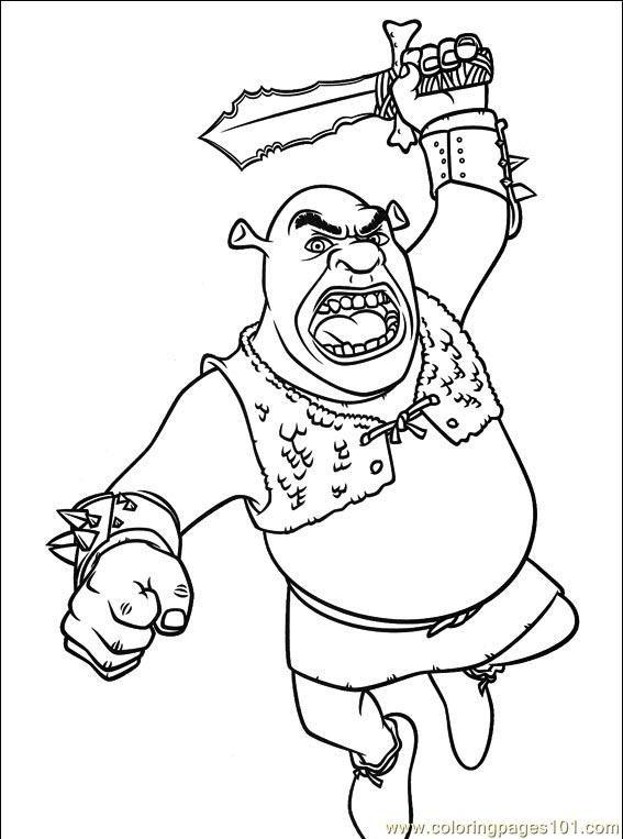 Shrek Coloring Pages Free Printable Coloring Page Shrek 3 038 9