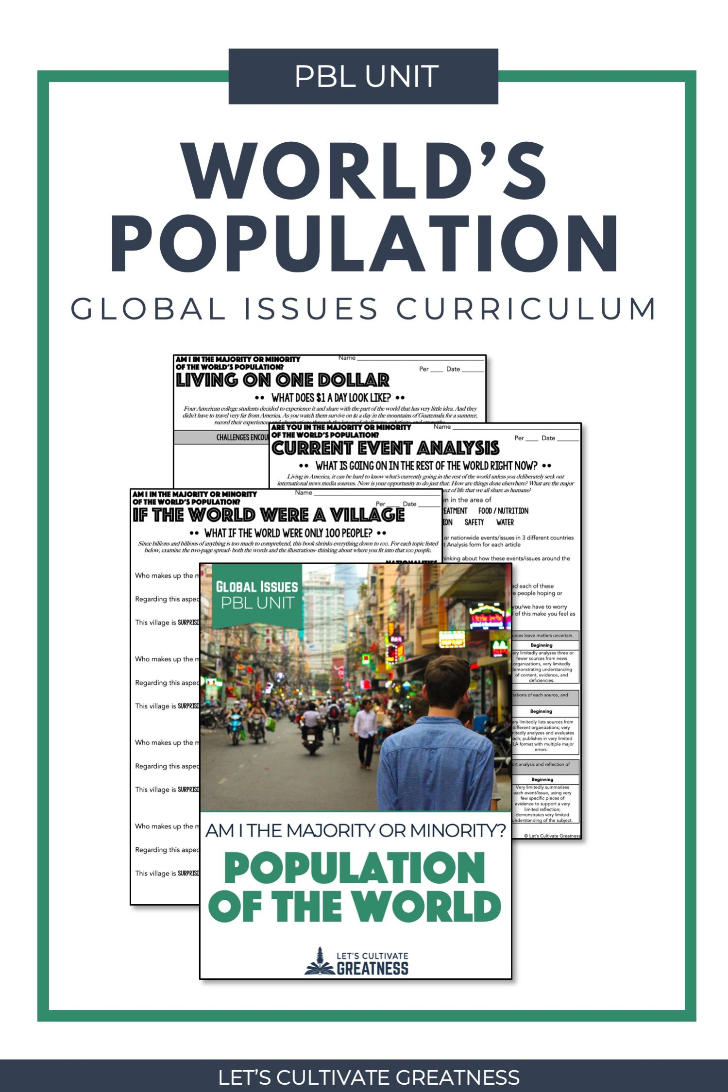 World Population And World Poverty Pbl Unit In