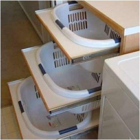 10 astuces de rangement pour la salle de bains et la salle de lavage linge panier et rangement. Black Bedroom Furniture Sets. Home Design Ideas