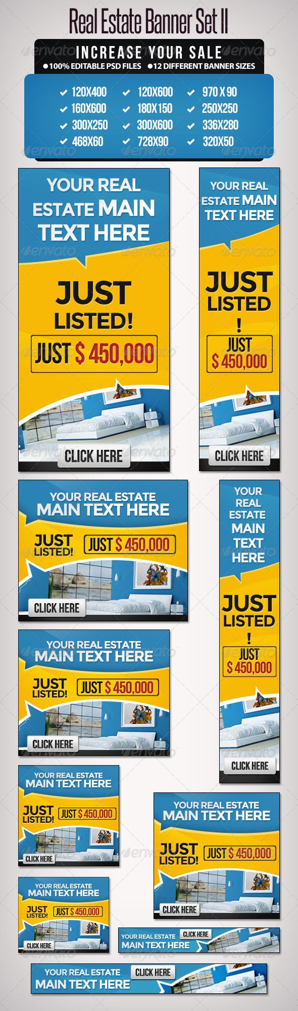 Real Estate Banner Set II - 12 sizes | Home, Promotion and The o'jays