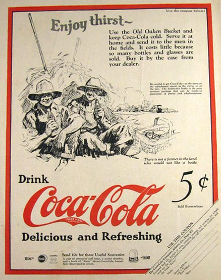 1923 {} Scarce magazine print ad for Coca Cola. Great old ad has a ...