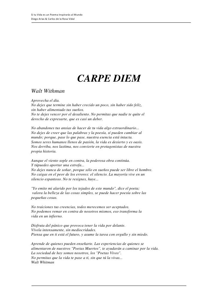 Si Tu Vida Es Un Poema Inspirars Al Mundo Diego Arias Carlos De La Rosa Vidal 21 728 Jpg 728 1030 Poemas Palabras Mágicas Frases Motivadoras