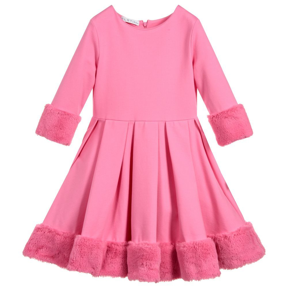 9622b56e5 Pink Milano Jersey Dress for Girl by Elsy. Discover more beautiful ...