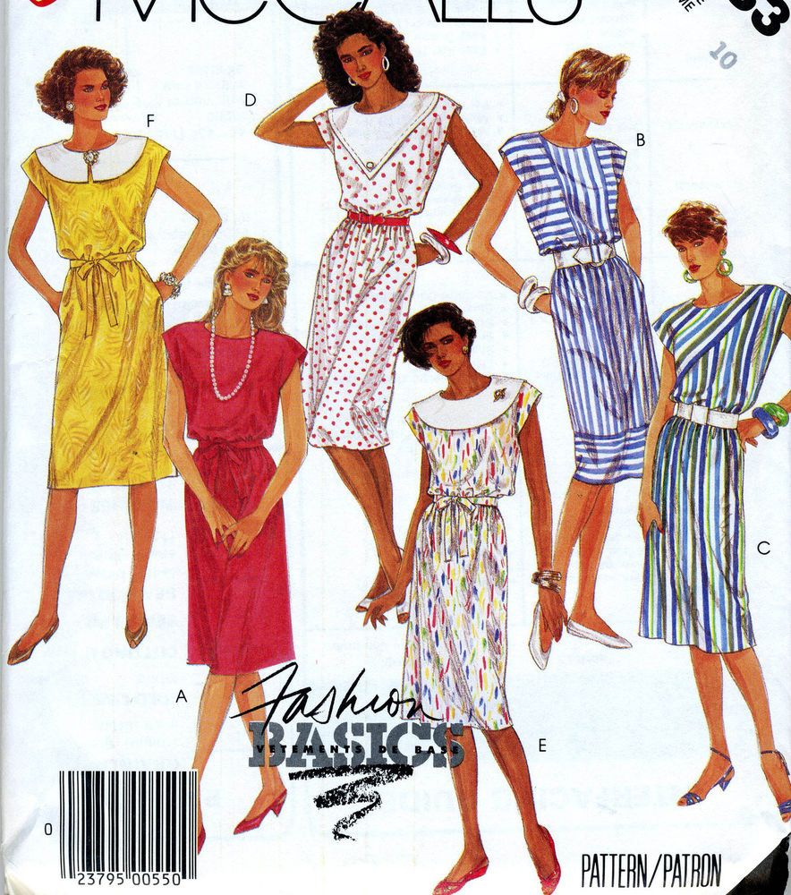 Misses Size 10 Dress Vintage Sewing Pattern McCalls 2983 #McCalls #vintage