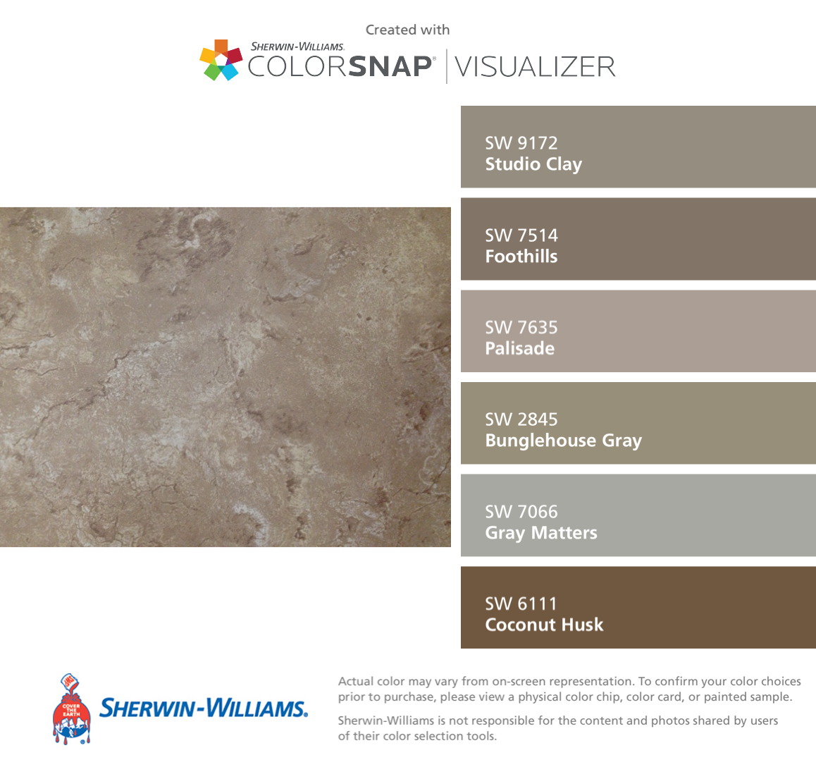I Found These Colors With Colorsnap Visualizer For Iphone By Sherwin Williams Studio Clay Sw