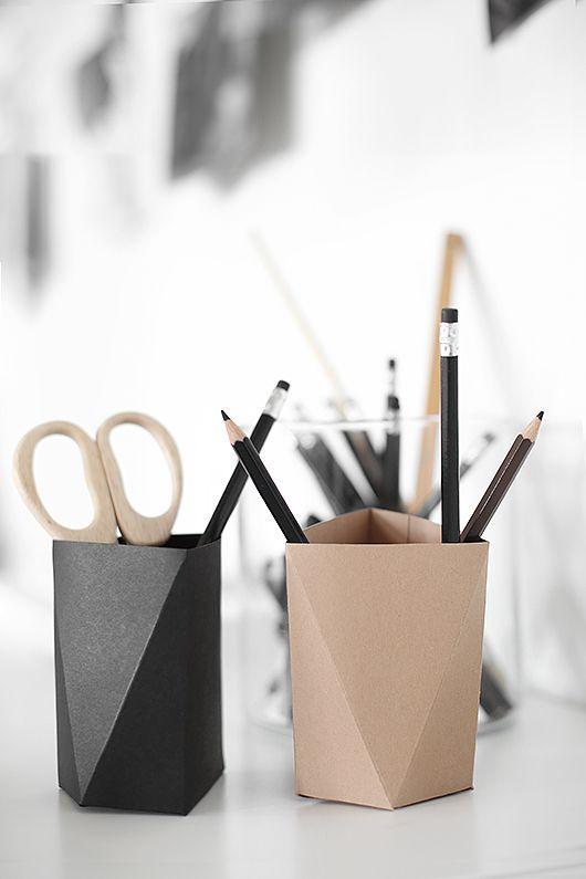Diy Pennhllare Av Papper Trendenser Diy Origami Pen Holders