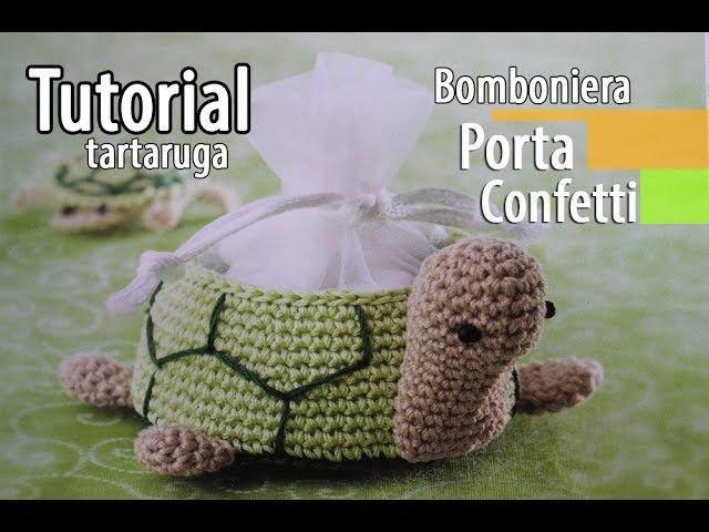 Tutorial Angioletto Amigurumi : Tutorial bomboniere cestino tartaruga uncinetto crochet