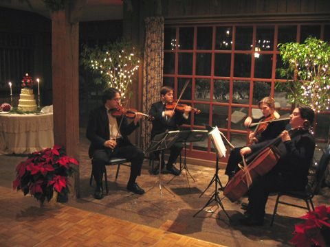 String Quartet For The Ceremony Mixture Of Christmas Carols And Classical Wedding Music
