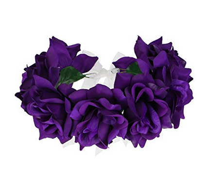 Purple Flower Crown Fashion Planning Purple Flowers Flower Crown