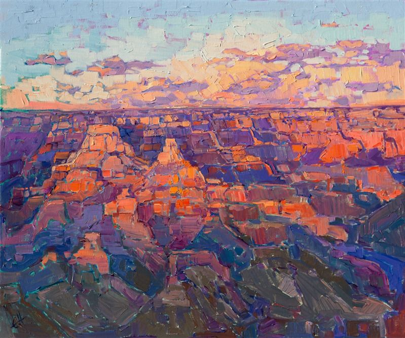 Canyon Dawn Purchase Contemporary Impressionism Prints
