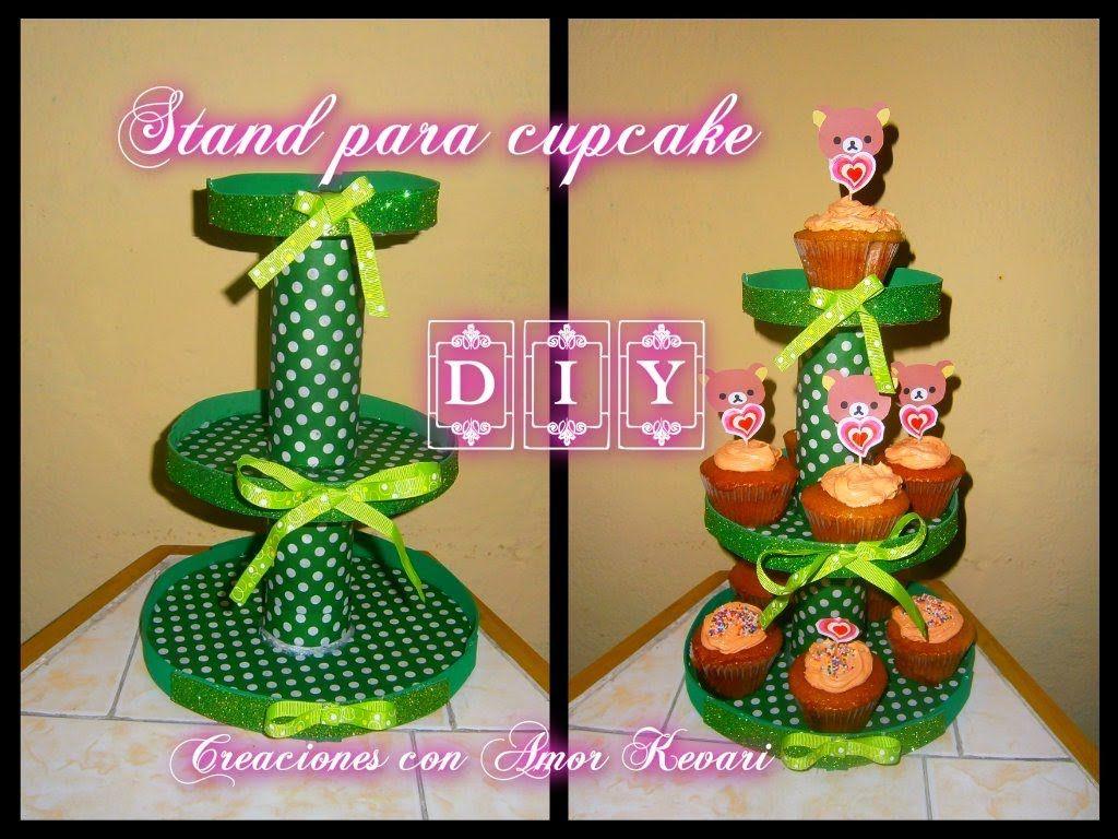 Stand o Torre para Cupcake DIY (Material Reciclado) Fácil y Barato ...
