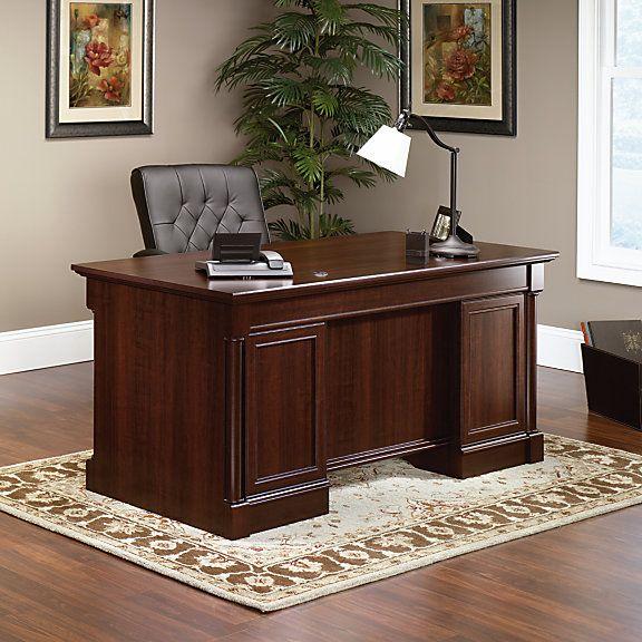 Sauder Palladia Collection Executive Desk Select Cherry Item