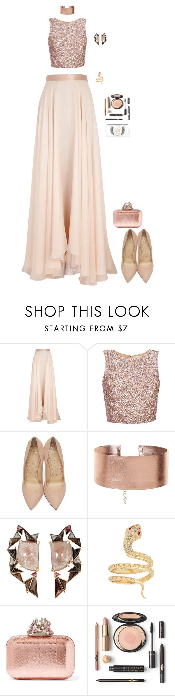 """Grammy's"" by hindrance ❤ liked on Polyvore featuring Lanvin, Charlotte Olympia, Nak Armstrong, Jimmy Choo and MAC Cosmetics"