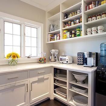 Kitchen Pantry with Open Shelving Fixer Upper Pinterest