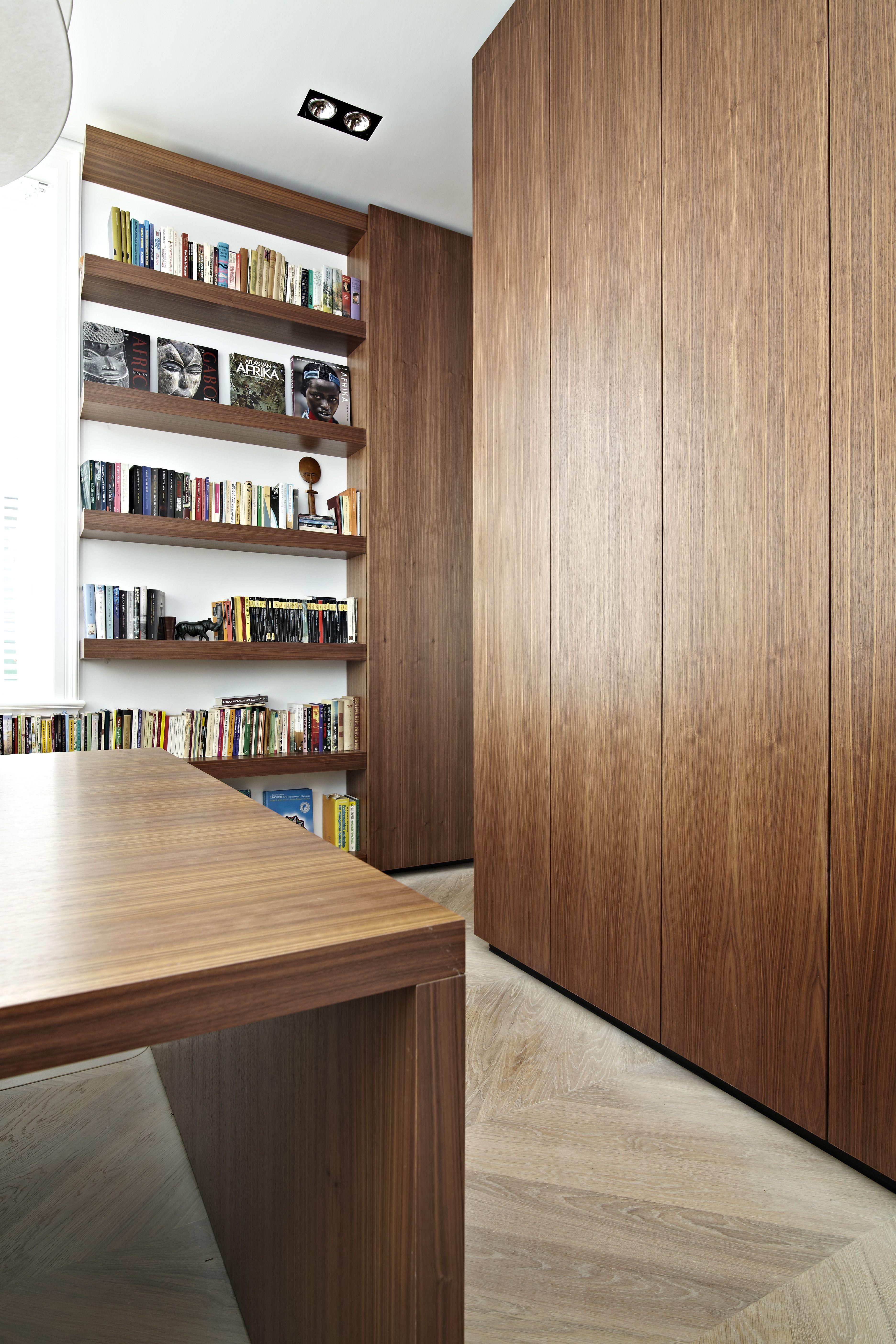 Kantoor Mahonie Kast Bureau Boeken Opmaat Gemaakt