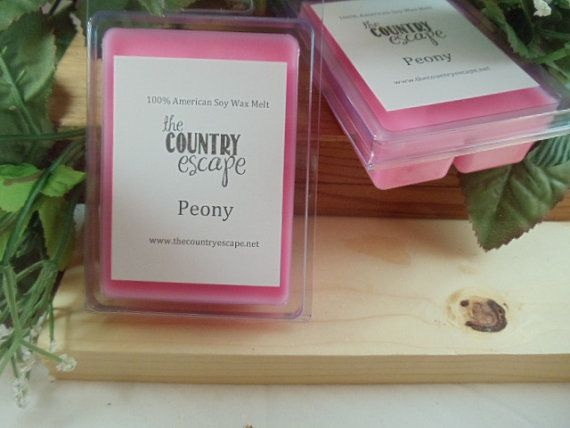 Peony Scented 100% Soy Wax Melt - Maximum Scented on Etsy, $2.95