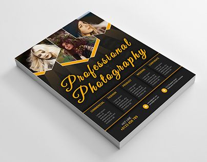 Check out new work on my @Behance portfolio  - photography flyer