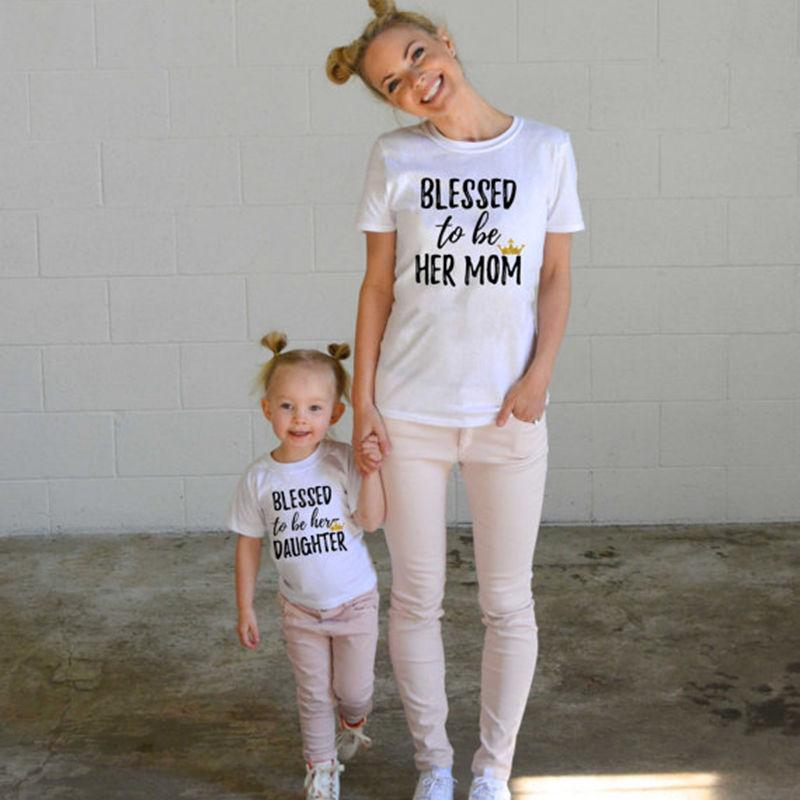 7846a0a043 Blessed to Be Her Mom T-shirt (Matching mother/daughter tees ...