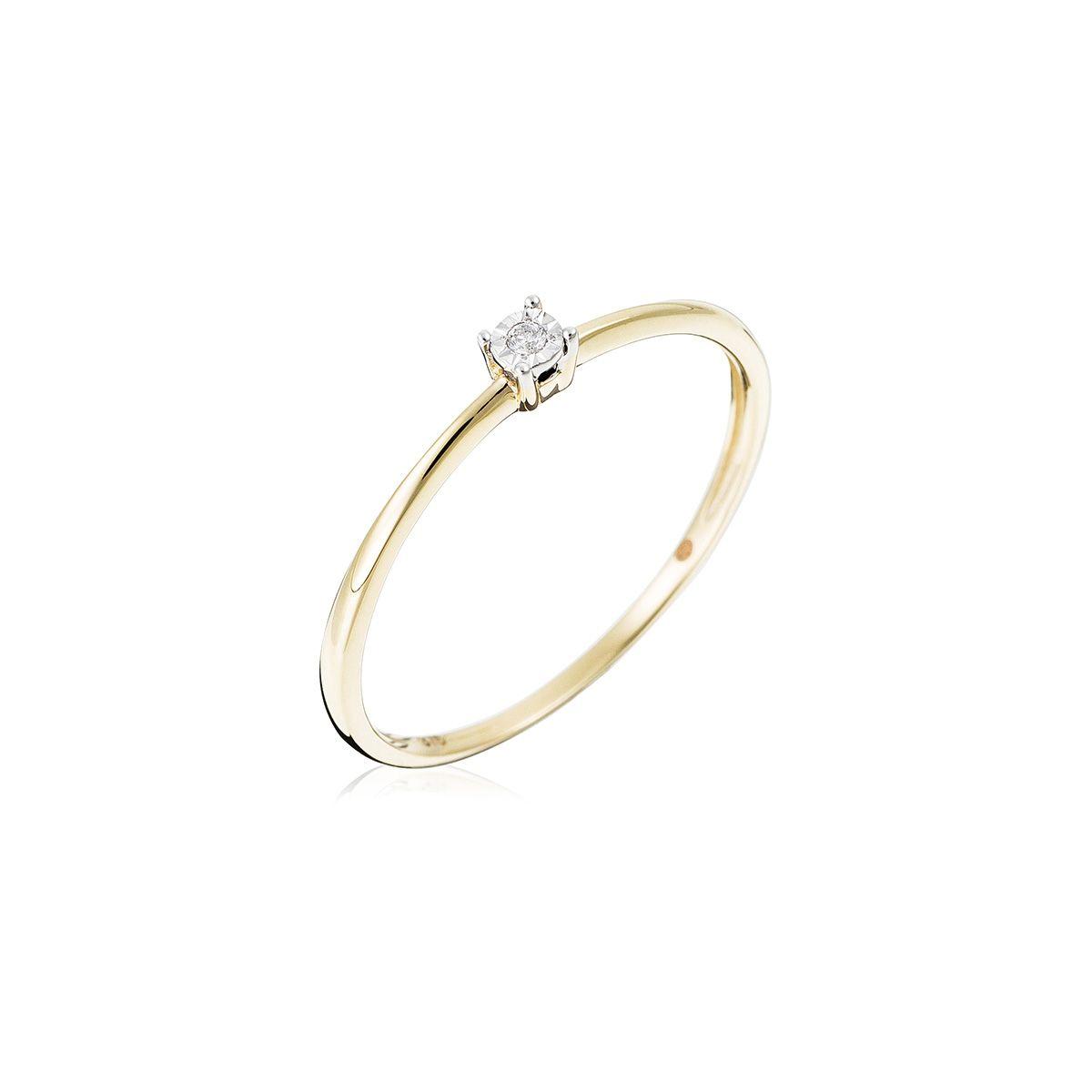 Diamants0 Bague Jaune Or Solitaire Pure 01ct1lediamantaire wn0OPk8
