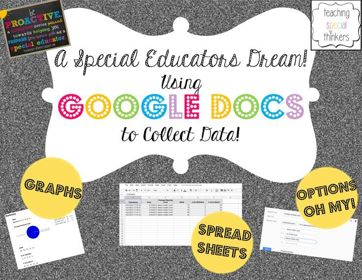 Teaching Special Thinkers Be Proactive Using Google Docs To Collect Data For Iep Goals
