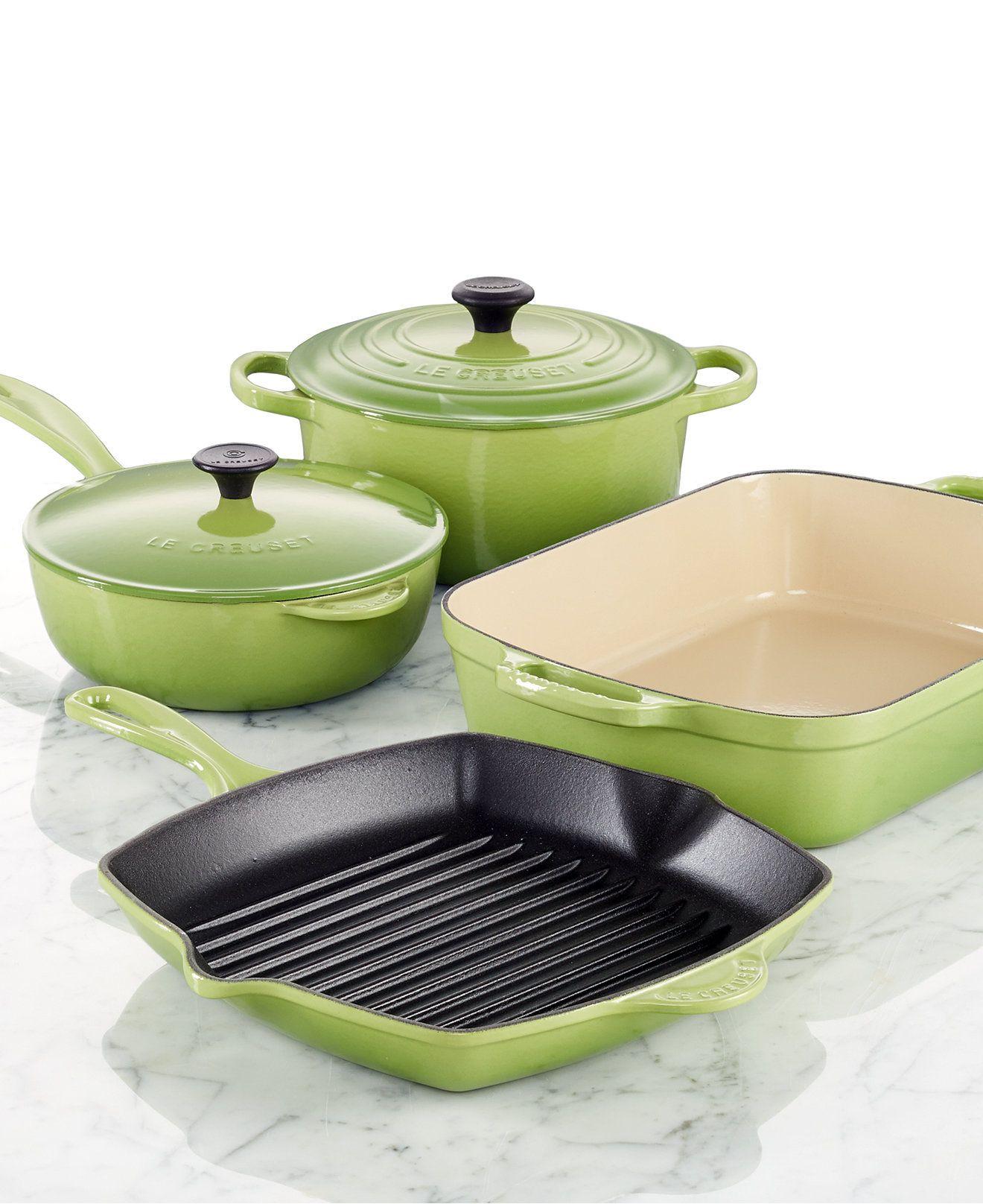 Le Creuset Cast Iron 6 Piece Cookware Set Cookware Sets Kitchen Macy S Elegant Cookware Cookware Set Cast Iron Cookware Set