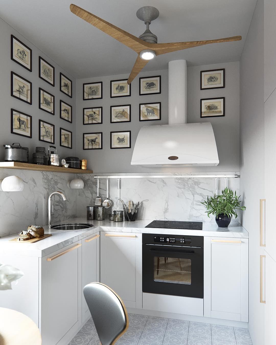 Картинки по запросу кухня без верхних шкафов фото ...