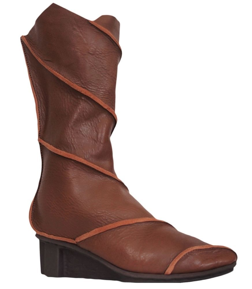 TRIPPEN WIND Womens Boots Mid Calf Leather Brown Size 39 US 8 #Trippen  #MidCalfBoots