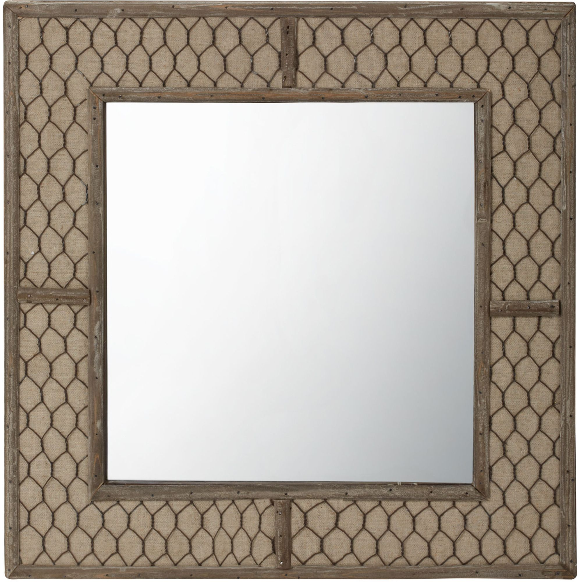 Dimond Home Canvas Wire Wall Mirror  X In