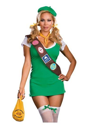 Sexy Naughty Girl Scout School Girl Plus Size Halloween Costume