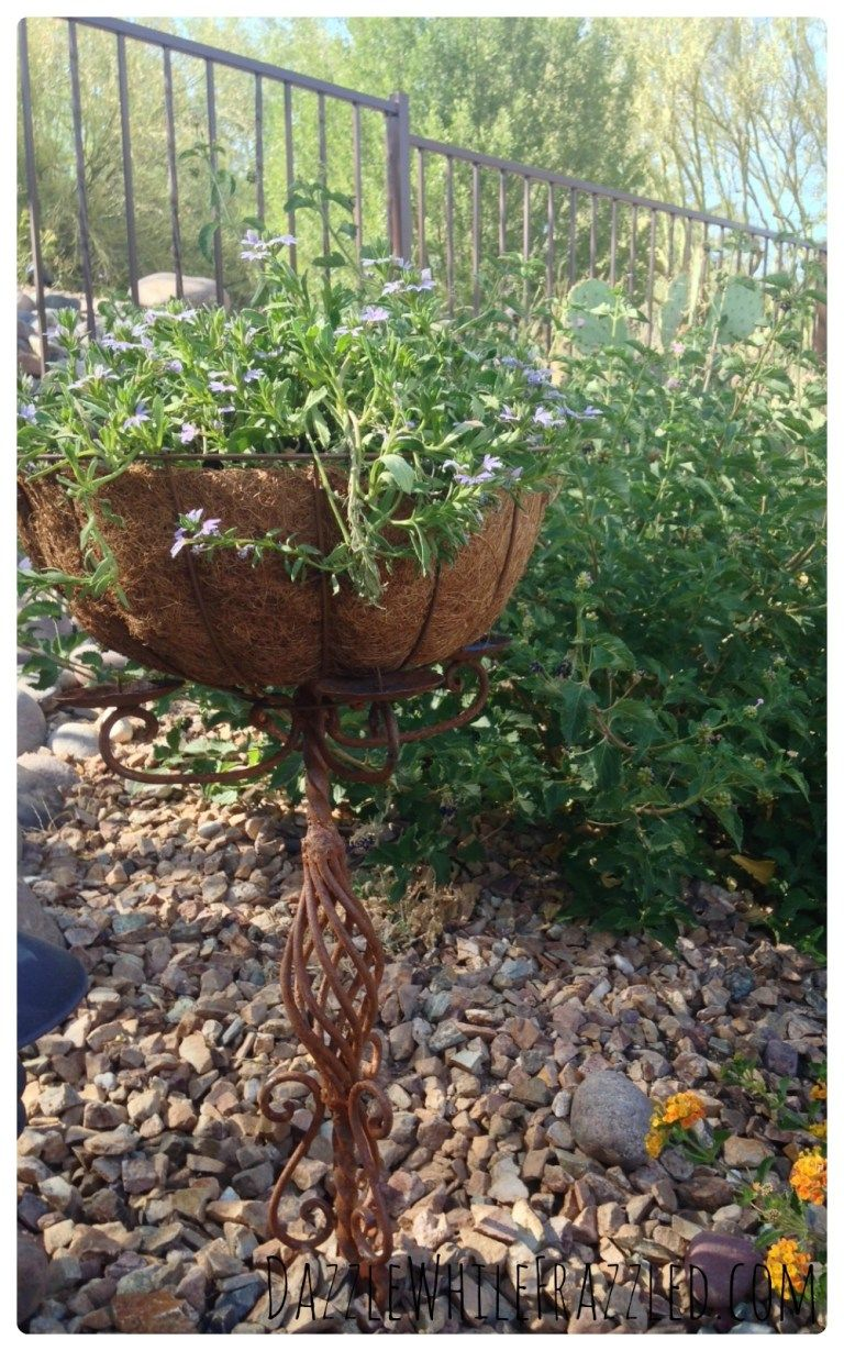 How To Make Garden Planter From Old Candelabra Garden Planters Diy Garden Diy Garden Decor
