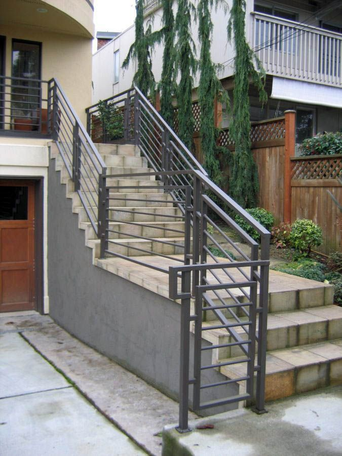 Exterior Stair Railing Ideas (That You Can Build Yourself ...