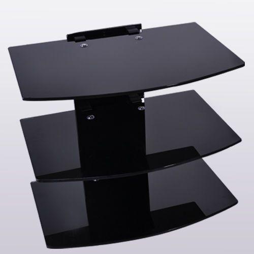 floating glass wall mount bracket 2 shelves for sky dvd large glass shelves for bathroom large wall mounted glass shelves