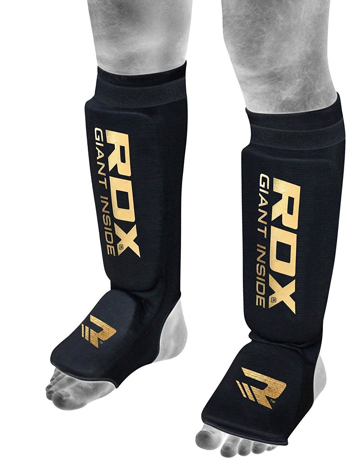 Shin Instep Guards Kickboxing muay thai MMA shin pad Leg /& Foot Protector Black