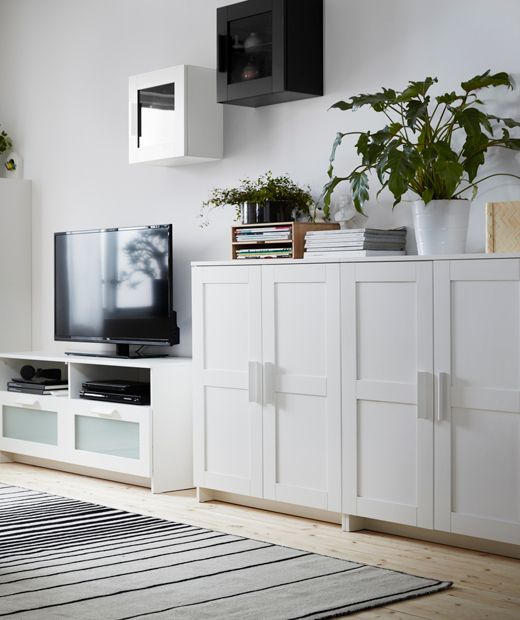 Brimnes Cabinet With Doors White Fh Brimnes Ikea Living Room