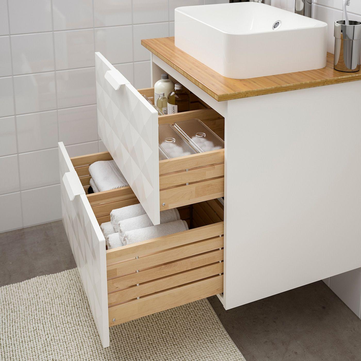 Ikea Godmorgon Tolken Horvik Waschbeckenschr Aufsatzwaschb 45x32 Resjon Weiss Bambus Brogrund Mischb In 2020 Ikea Godmorgon Waschbeckenschrank Badezimmerwaschtisch