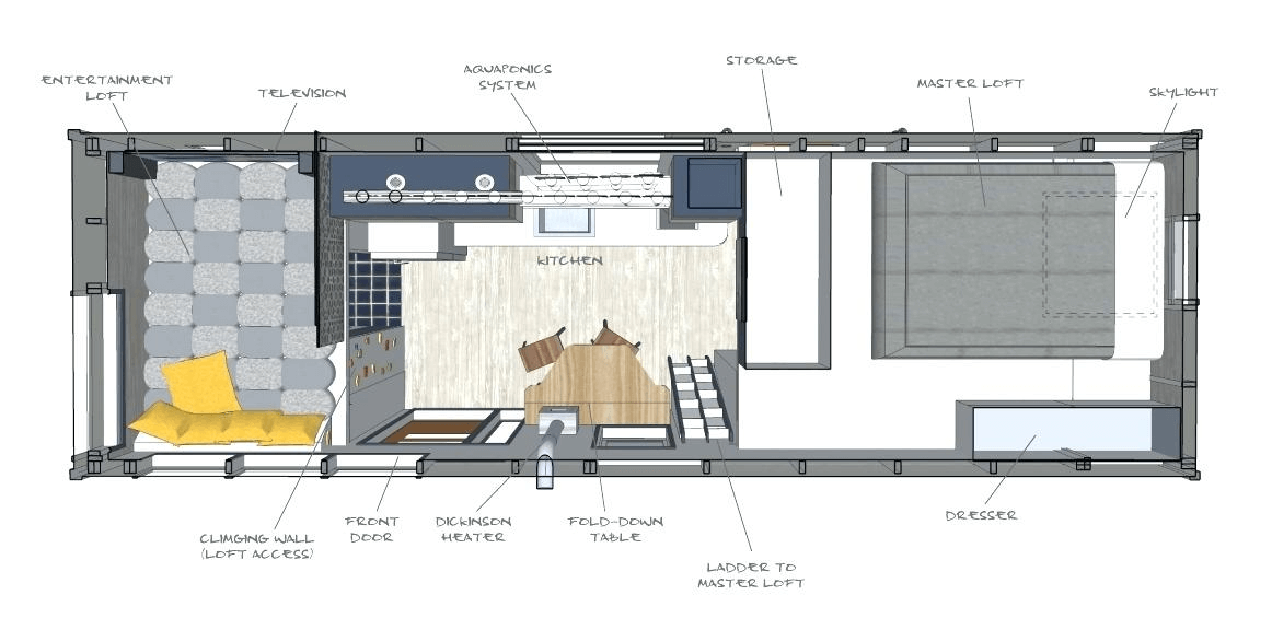 A Tiny House Without Sacrifices In Design Tiny House Basics Tiny House Interior Tiny House Interior Design Tiny House Design