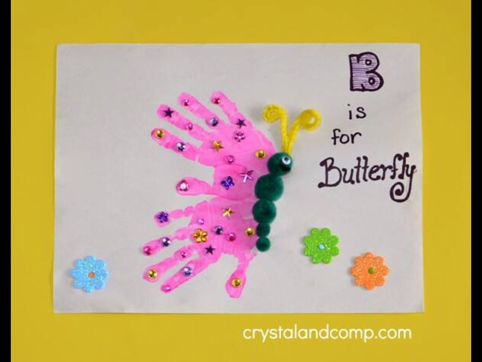 B is for butterfly discovery pinterest butterfly and for Butterfly hands craft