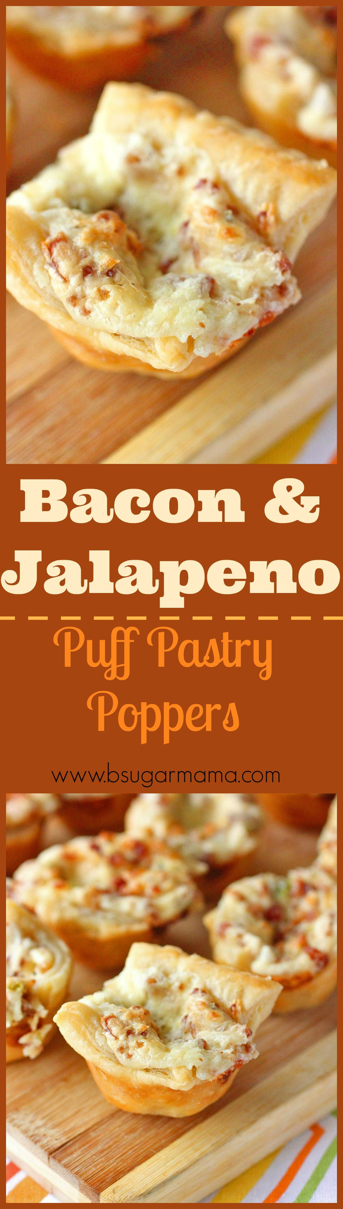 Photo of Bacon and Jalapeno Puff Pastry Bites   Brown Sugar Food Blog