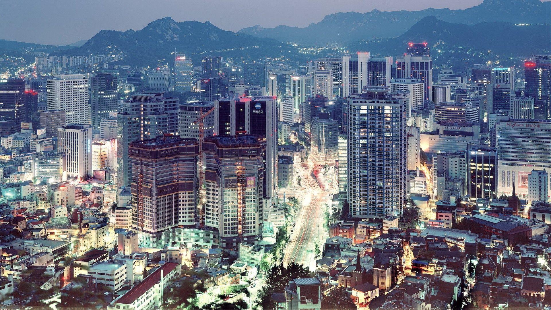 Blue Lights In Tokyo HD desktop wallpaper Widescreen High HD