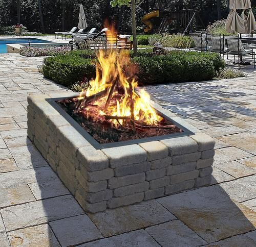 Square Fire Pit Kit Economy Line Backyard Fire Fire Pit Backyard Outdoor Fire