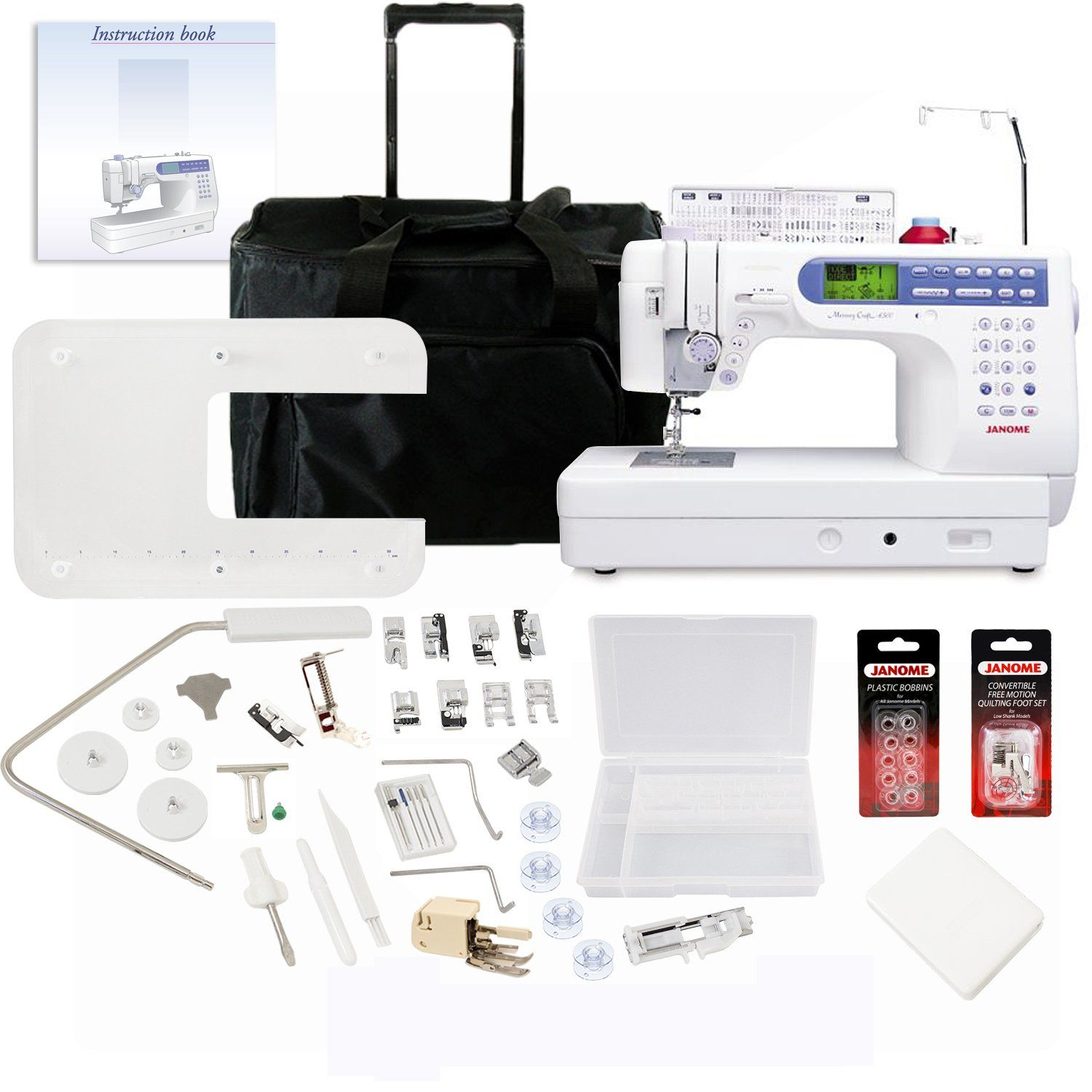 Janome memory craft 6500p - Janome Memory Craft 6500p Sewing Machine With Exclusive Bonus Bundle Bonus Bundle Includes Rolling