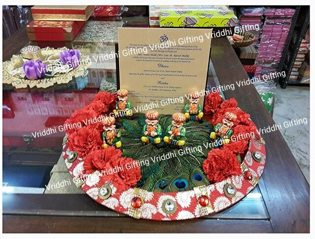 Indian Wedding First Card Presentation Packing Wedding